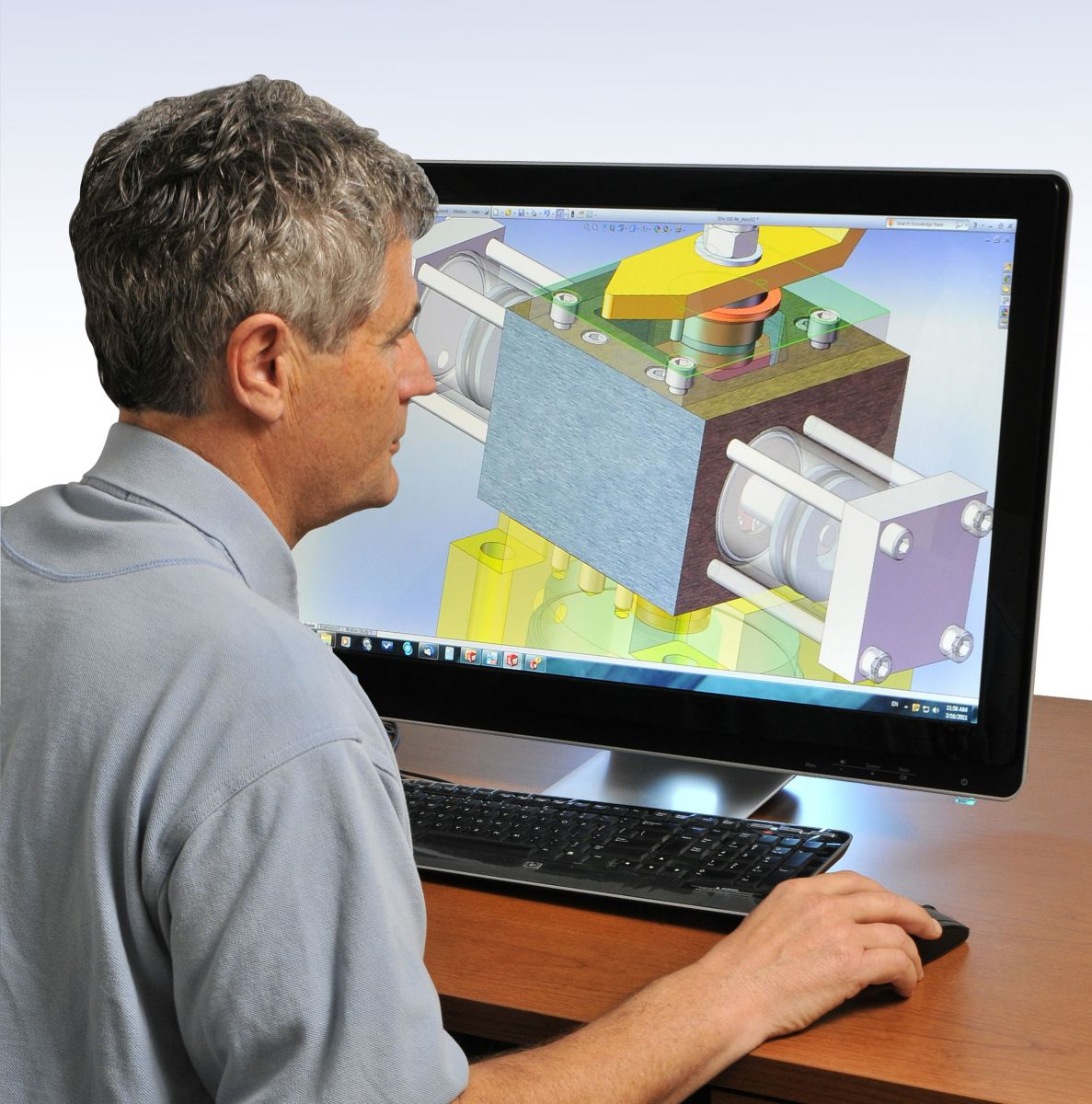 A person using CAD