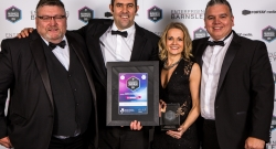 L-R Mike Brook, Mike Brook Corporate Developments, Ryan Taylor, Director; Sarah Hardy, General Manager; Shaun Palmer, Director